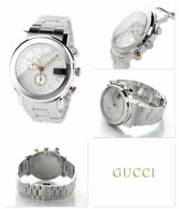 【あす着】グッチ クロノグラフ クオーツ メンズ 腕時計 YA101360 GUCCI シルバー