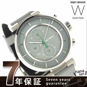 【ショッパー&ノート付き♪】イッセイミヤケ ダブリュ 和田智 クロノグラフ 限定モデル NY0Y002 メンズ 腕時計 ISSEY MIYAKE グレー