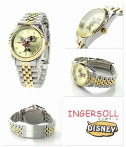 ディズニー ミニー ゴールデンイヤーズコレクション ZR26509 インガソール 腕時計 ゴールド