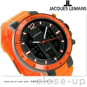 ジャックルマン ミラノ クロノグラフ メンズ 腕時計 1-1726H JACQUES LEMANS ブラック×オレンジ