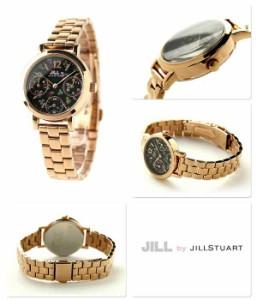 ジル バイ ジルスチュアート フラワー クラウン レディース NJAG402 JILL by JILLSTUART 腕時計 ブラック×ピンクゴールド