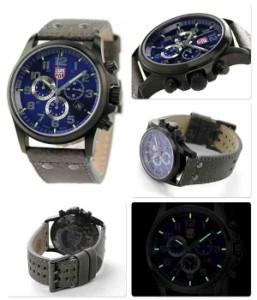 【あす着】ルミノックス アタカマ フィールド クロノグラフ アラーム 1943 LUMINOX メンズ 腕時計 クオーツ ブルー×グレー