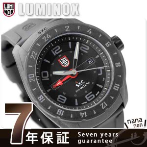 【あす着】ルミノックス SXC ポリカーボネートカーボン GMT 5021.GN LUMINOX 腕時計 クオーツ オールブラック×レッド