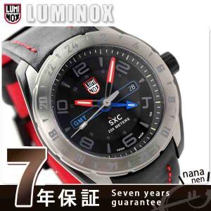 【あす着】ルミノックス SXC スチール GMT 5127 LUMINOX メンズ 腕時計 クオーツ ブラック×レッド