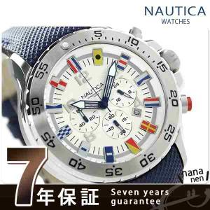 ノーティカ クロノグラフ クオーツ A24513G NAUTICA メンズ 腕時計 NST クロノ フラッグ シルバー×ネイビー