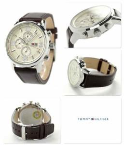 【あす着】トミー ヒルフィガー マルチカレンダー メンズ 腕時計 1710337 TOMMY HILFIGER ベージュ×ブラウン