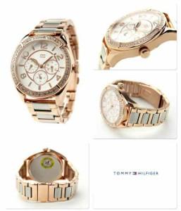 トミー ヒルフィガー マルチファンクション レディース 1781266 TOMMY HILFIGER 腕時計 クオーツ ホワイト×ピンクゴールド