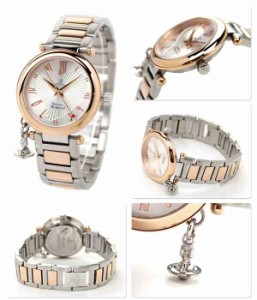 ヴィヴィアン・ウエストウッド 腕時計 レディース オーブ シルバー×ピンクゴールド Vivienne Westwood VV006RSSL