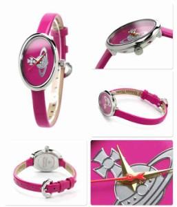 ヴィヴィアン・ウエストウッド 腕時計 レディース メダル ピンク エナメルレザー Vivienne Westwood VV019PK