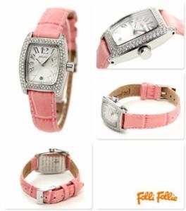 【あす着】フォリフォリ Folli Follie 腕時計 レディース ジルコニア シルバー×ピンク S922ZI-SLV-PNK