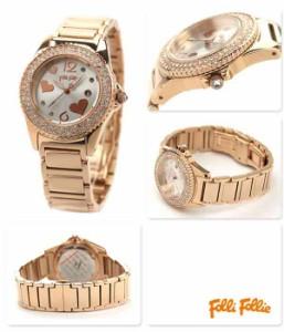 Follie フォリフォリ 腕時計 レディース ジルコニア シルバー×ピンクゴールド WF9B049BTS
