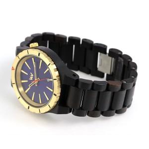 ウィーウッド アサント 木製 腕時計 9818134 WE WOOD ブルー×ブラック