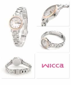 【ノベルティ キャンドル付き♪】シチズン ウィッカ デイデイト ソーラー 腕時計 KH3-436-11 CITIZEN wicca シルバー
