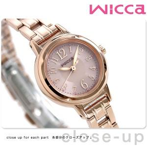シチズン ウィッカ ソーラー レディース 腕時計 KH9-965-91 CITIZEN wicca ピンクゴールド