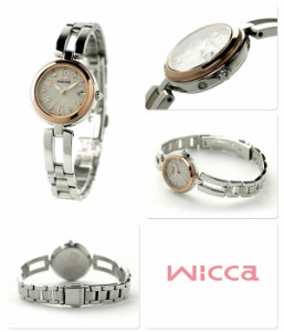 【キャンドル付き♪】シチズン ウィッカ ハッピーダイアリー 電波ソーラー KL0-219-11 CITIZEN wicca レディース 腕時計 シルバー