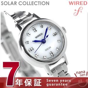 セイコー ワイアード エフ ソーラーコレクション レディース AGED073 SEIKO WIRED f 腕時計 シルバー