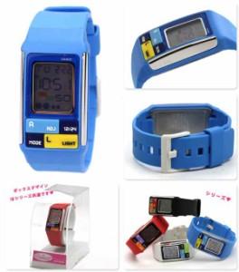 【あす着】カシオ チプカシ ポップトーン CASIO POPTONE デジタル ブルー LDF-50-2DR