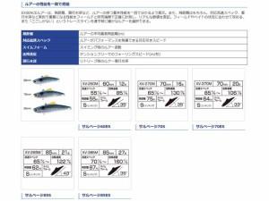 シマノ/SHIMANO XV-260M エクスセンス サルベージ 60ES 追加カラー (60mm/12g/シンキング)