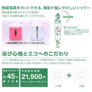 日本製 シャワー ヘッド アトピー 塩素 除去 浄水 節水 PS7963-80XAB-MW2 (it-9233)