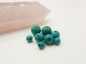 一粒販売 天然石ビーズ ばら売りターコイズ ビーズサイズ 8mm 形 丸玉