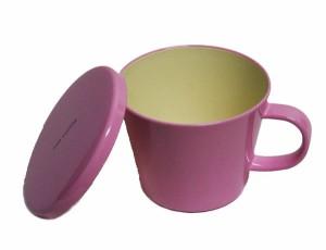 フタ付マグカップ ピンク ミアクッチーナ(電子レンジ対応、食器洗い機対応、蓋付マグカップ) 001-650 [fs01gm]fs2gm