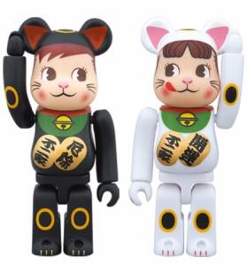 BE@RBRICK ベアブリック 招き猫ペコちゃん&ポコちゃん 2体セット/不二家◆新品Ss【即納】