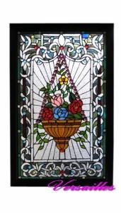 ◆教会を思わせるゴシック調【ティファニー工法ステンドグラス】ローズ 中
