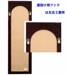 バラ彫刻飾り【木製枠壁掛けミラー/鏡-】ホワイト-木製-アンティーク(幅広面磨き加工)