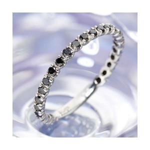 0.5ctブラックダイヤリング 指輪 エタニティリング 17号