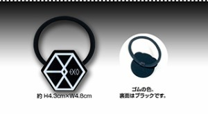 【送料無料・速達・代引不可】 EXO (エクソ) ロゴ アクリル ヘアゴム (Hair Elastic) グッズ