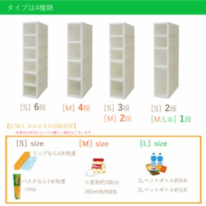 スリムストッカー 4段 幅18 ストッカー/ワゴン/収納/収納庫/ストック/キッチン/すき間/すきま/隙間/ランドリー/キャスター/チェスト