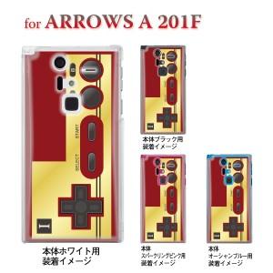 【ARROWS A 201F】【201F】【Soft Bank】【カバー】【スマホケース】【クリアケース】【クリアーアーツ】【懐かしのコントローラ】 08-2