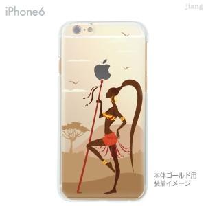 iPhone6 Plus 4.7 5.5 ケース カバー スマホケース クリアケース ハードケース Clear Arts アフリカンヒーリング 01-ip6-ca0043