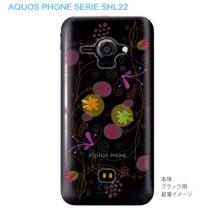 【AQUOS PHONE SERIE SHL22】【SHL22】【au】【カバー】【ケース】【スマホケース】【クリアケース】【フラワー】 22-shl22-ca0029