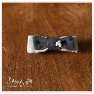 ポイント10倍♪【SAWA サワ】 リボン バレッタ / ヘアクリップ (te-ba-3)
