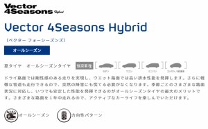 GOODYEAR Vector 4 Seasons Hybrid 185/65R14 【1856514tire-pas】