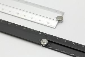ミドリ MIDORI マルチ定規 アルミ 30cm 黒 42254006
