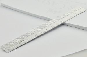ミドリ MIDORI 定規 アルミ シルバー 15cm 42255006