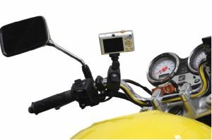 バイク用カメラマウント カメラ装着などに!マウントホルダー[メール便発送、送料無料、代引不可]
