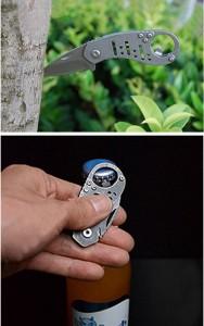 ミニ多機能折りたたみナイフ 小型 アウトドア ナイフ 栓抜き MINIORINAIF [メール便発送、送料無料、代引不可]