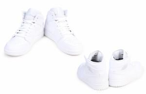 ナイキ NIKE エアジョーダン1 スニーカー AIR JORDAN 1 MID 554724-104 メンズ 靴 ホワイト