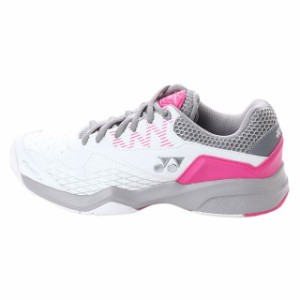 ヨネックス パワークッション103 (SHT103) レディース テニス オムニ/クレー用シューズ : ホワイト×ピンク YONEX