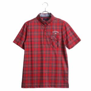 キャロウェイ メンズ ゴルフウェア 半袖シャツ タータンチェックジャカード B.Dカラーシャツ (241-7257501) 2017 秋冬 Callaway