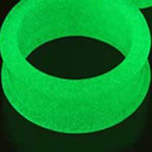 ボディピアス シリコン GLOW IN THE DARK(グロウ・イン・ザ・ダーク)蓄光 ダブルフレアアイレット【4G(5.0mm)】 BPDF-05-04G ボディピア