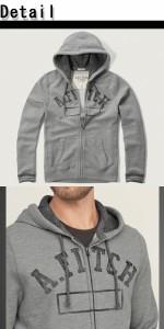 アバクロ パーカー メンズ 正規 Abercrombie & Fitch アバクロンビー アンド フィッチDistressed Logo Graphic Hoodie