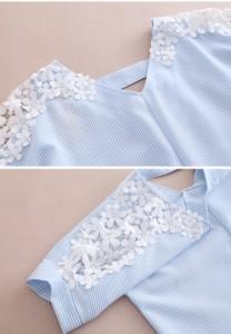 「在庫限定・返品交換不可」ゆるTシャツ レディース トップス 春 夏 半袖 花柄切り替え ゆったり Vネック レディースシャツ レディースT