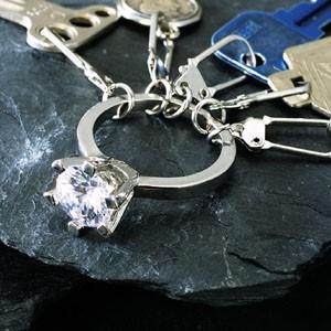 なんちゃってダイヤモンドキーホルダー(偽物ダイヤのアクセサリー)