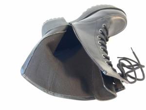 厚底 ミドルブーツ レディース 太ヒール 編み上げ レースアップ サイドファスナー ゴスロリ ロリータ コスプレ ハロウィン 3L (2色)