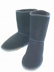 ムートンブーツ 本革ブーツ レディース ショートブーツ ローヒール ボア あったか 防寒