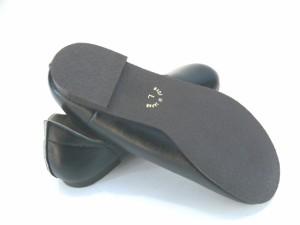 フラットシューズ パンプス レディース ローヒール 痛くない ぺたんこ 日本製 スムース 走れるパンプス ハンドメイド Vカット